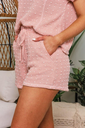 Blushing With Comfort Swiss Dot Shorts