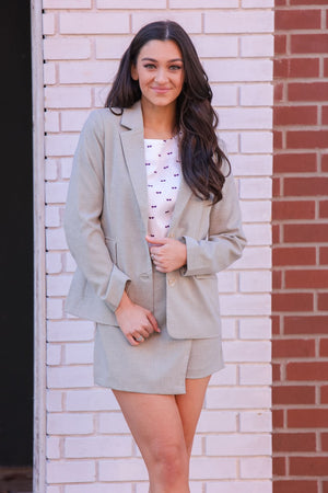 Keep It Cool Khaki Blazer
