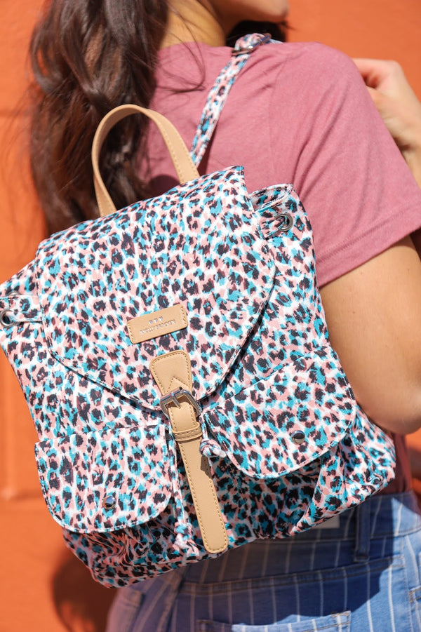All Your Favorite Things Pastel Leopard Print Backpack