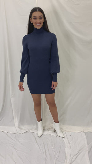 Midnight Shimmer Sweater Dress