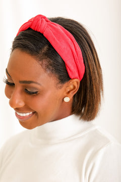 Star Of The Show Corduroy Headband - Red