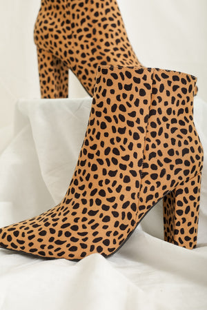 Moving in the Right Direction Bootie - Leopard