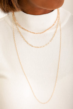 "The ""It"" Girl Layered Chain Necklace"