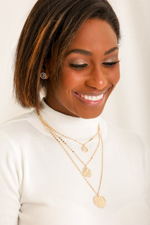 Toss a Coin in the Fountain Layered Necklace - Gold