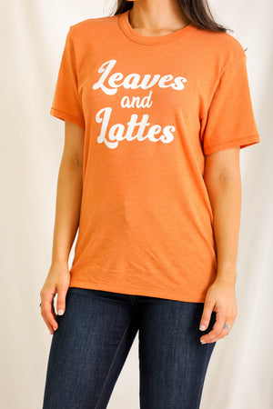 Leaves and Lattes Graphic Tee
