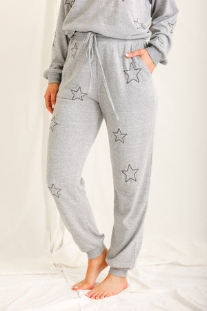 Wish Upon a Star Lounge Bottoms - Grey