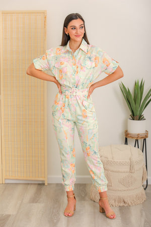 Surrounded By Nature Floral Jumpsuit