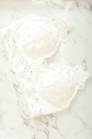 Live Free Lace Bralette - Ivory
