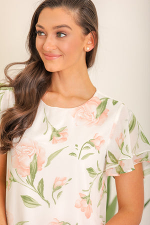 Picking the Flowers Floral Top