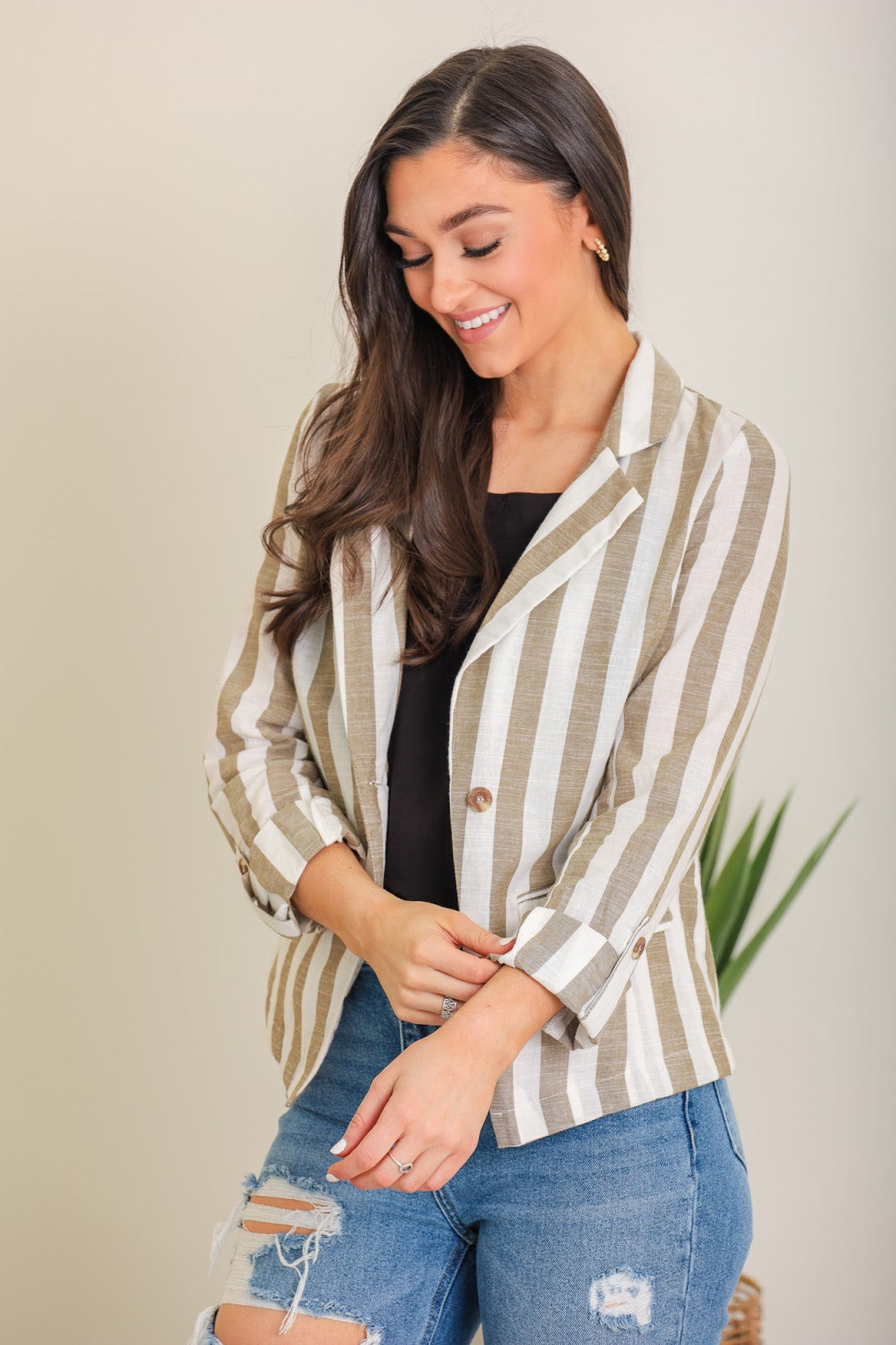 Work From Home Linen Jacket