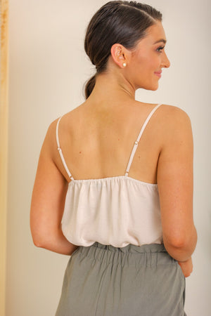 Try and Keep Up Cream Lace Cami