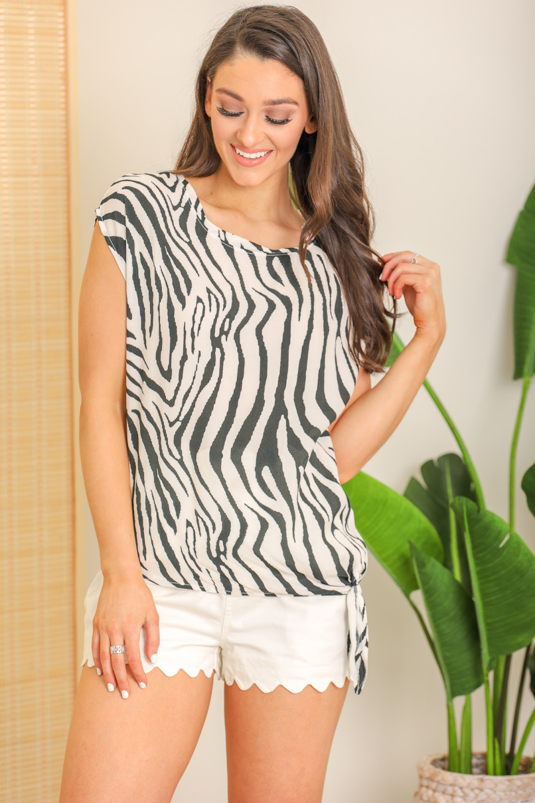 Stand Out in a Crowd Zebra Print Top