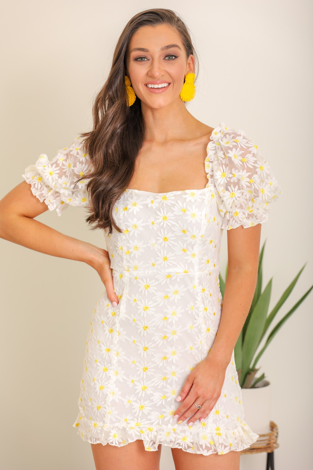 Painted Daisy Floral Dress
