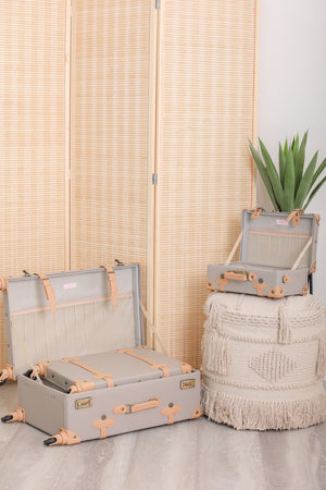 Cobblestone Living Vintage Luggage Set - Grey