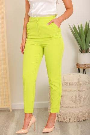 Caia Tapered Lime Trousers