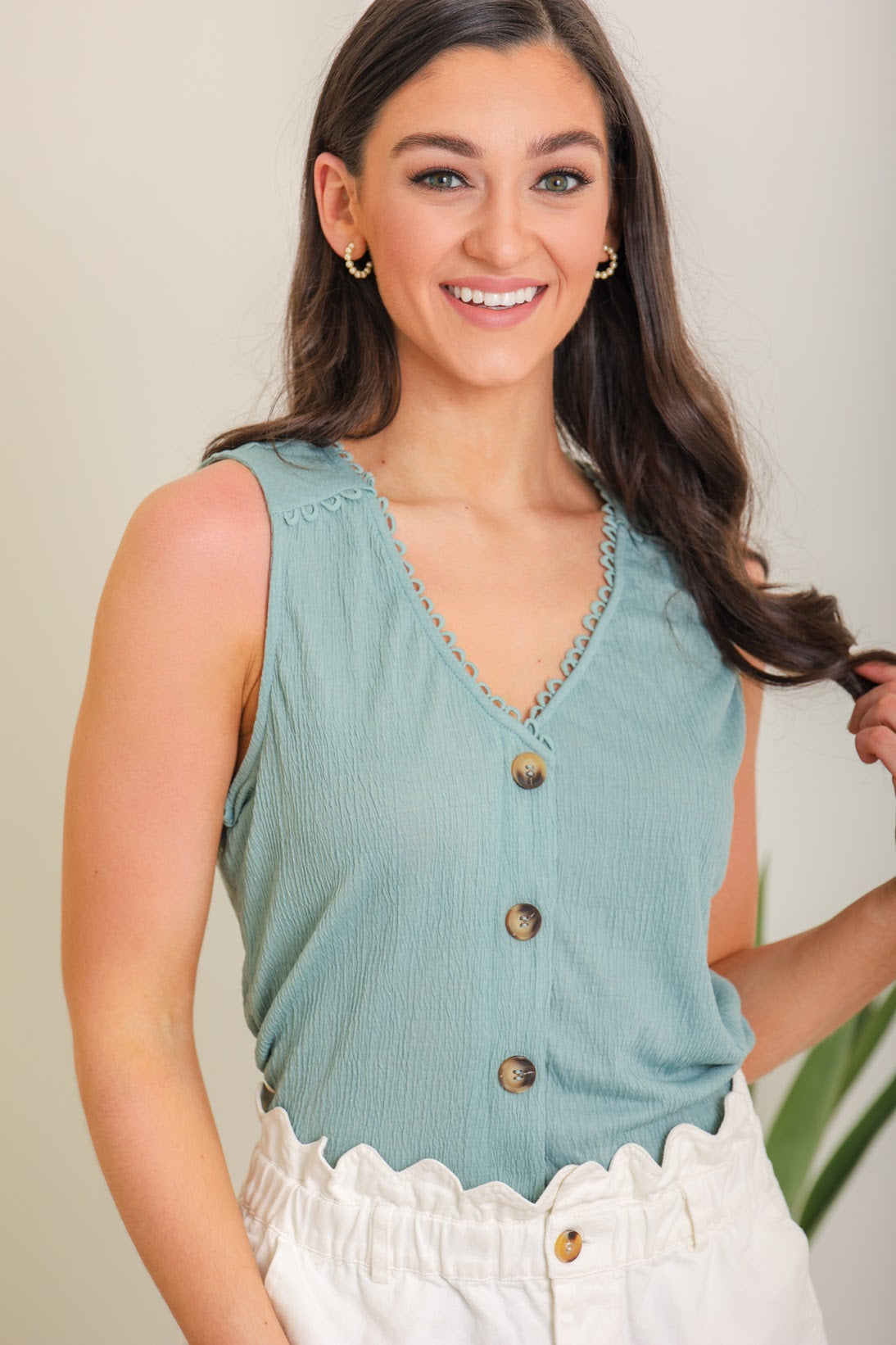 Easy Living Sleeveless Top - Teal