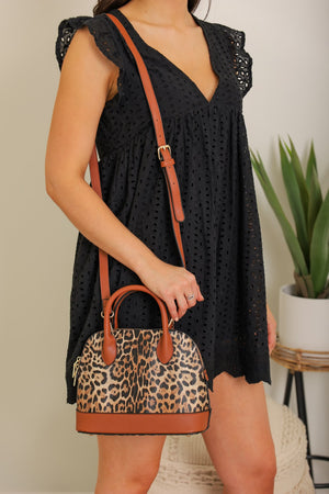 Queen of the Jungle Leopard Dome Purse - Brown