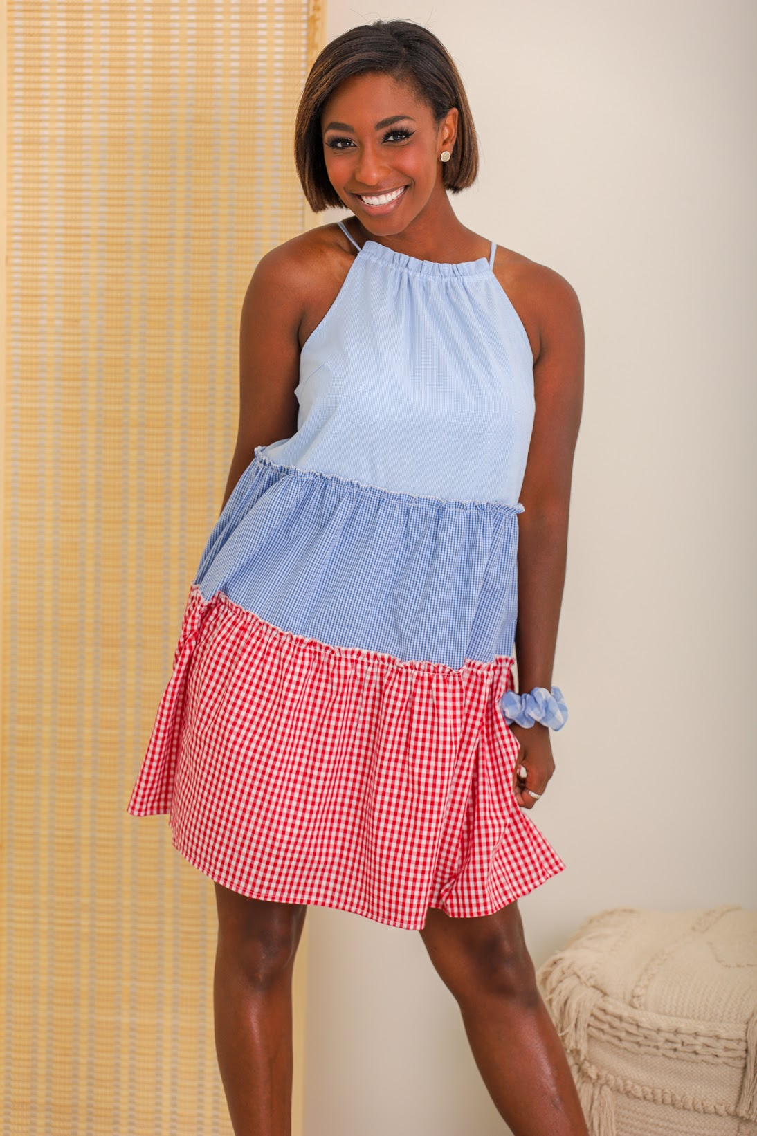 Life is a Picnic Tiered Gingham Dress