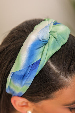 By the Sea Tie Dye Twisted Headband