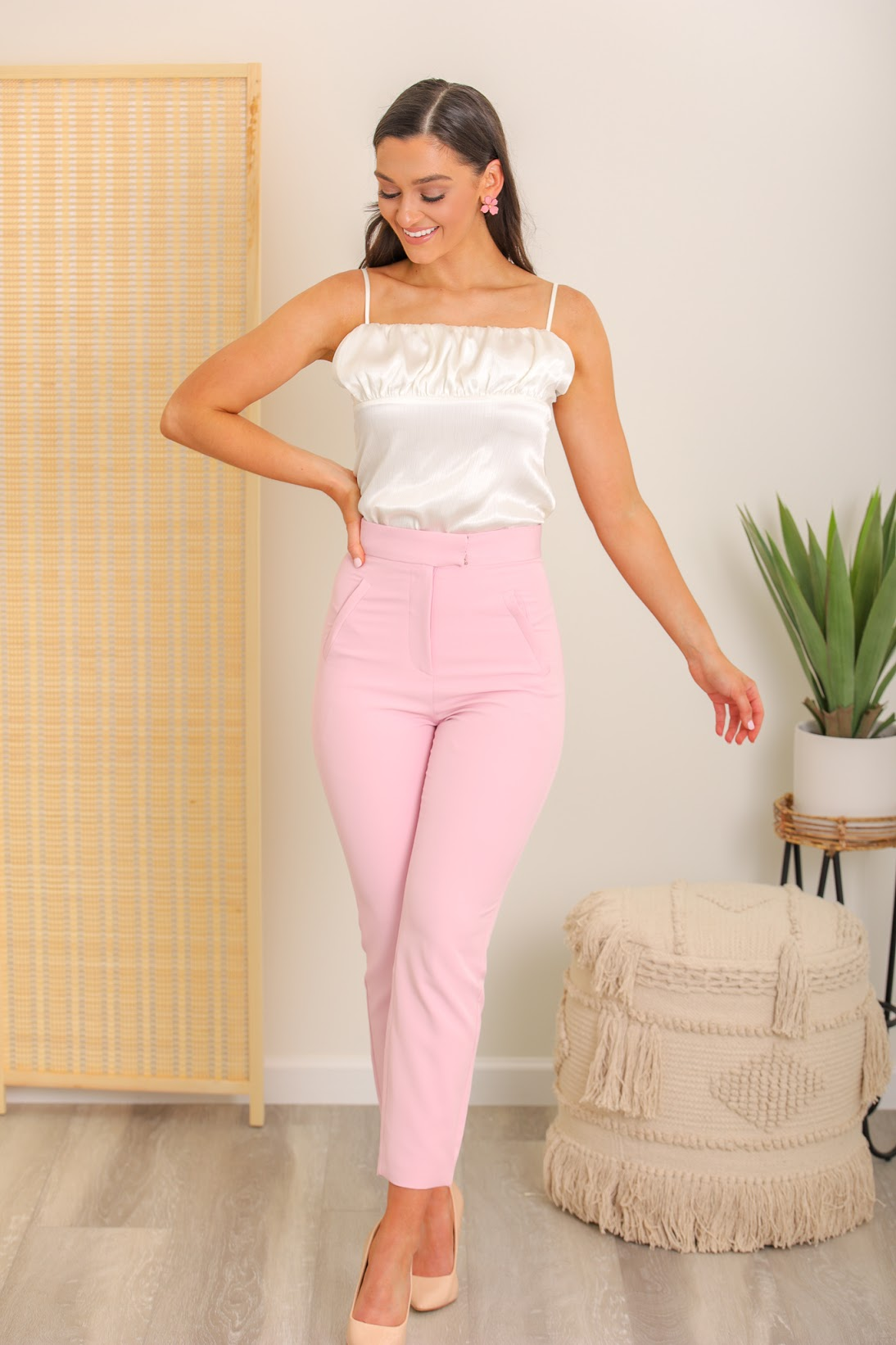 Sweetheart High Waisted Tailored Trousers