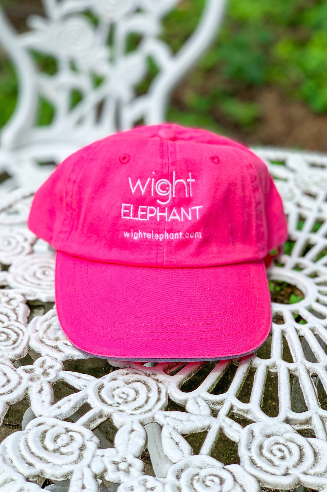 Wight Elephant Ball Cap - Hot Pink