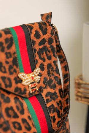 All the Buzz Bee Crossbody - Leopard