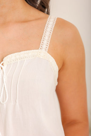 Lighter Than Air Crochet Trim Tank