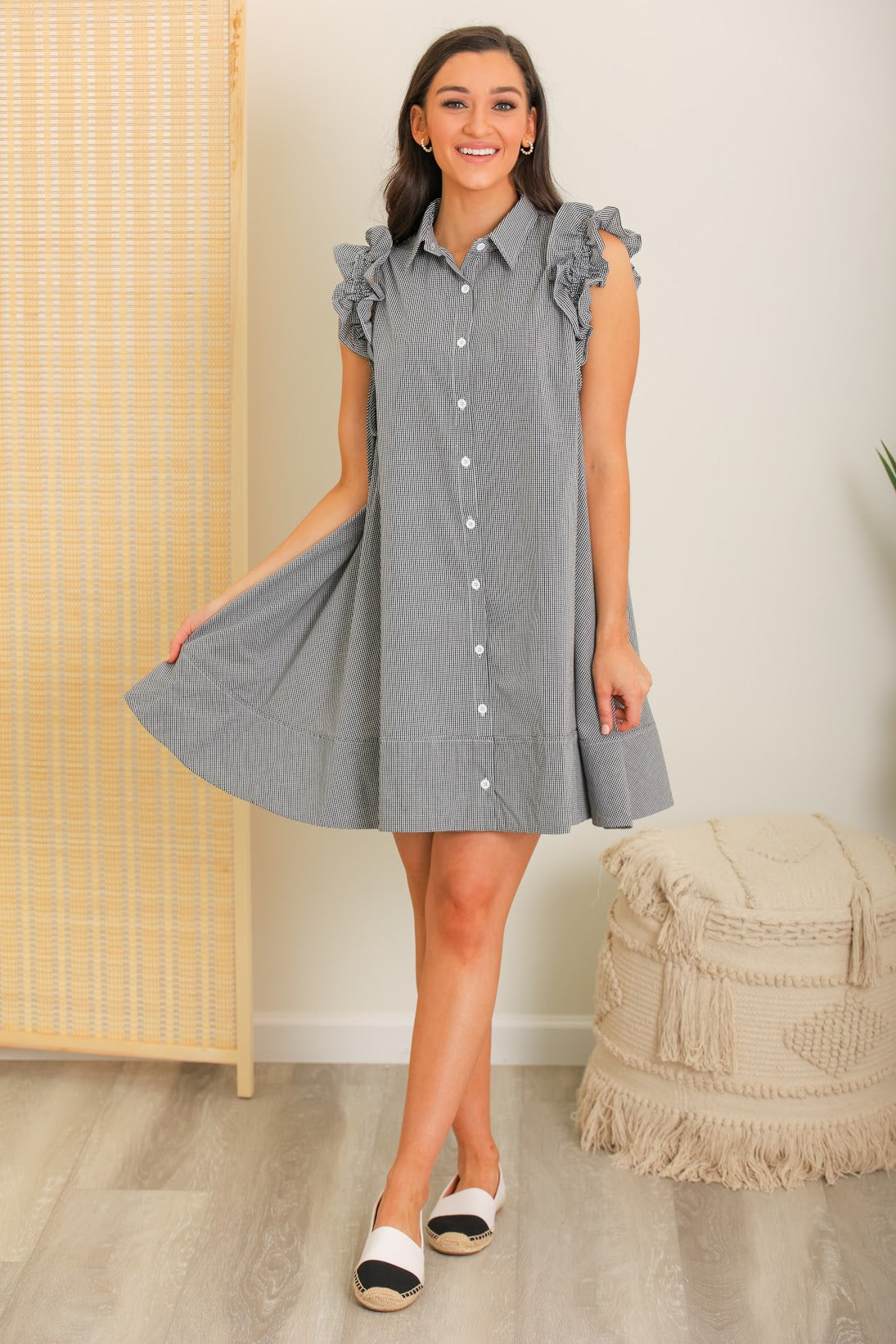 Beautiful Day Ruffle Sleeve Woven Dress