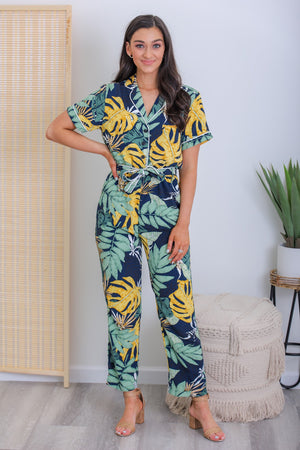 Palm Leaf Paradise Jumpsuit