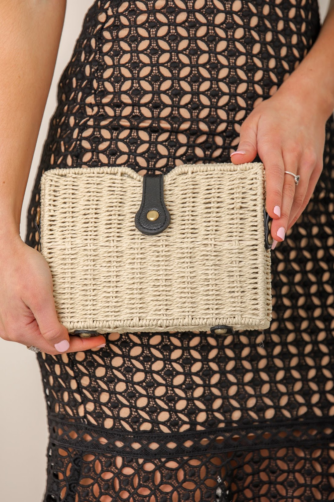 Picnic in the Park Woven Straw Crossbody