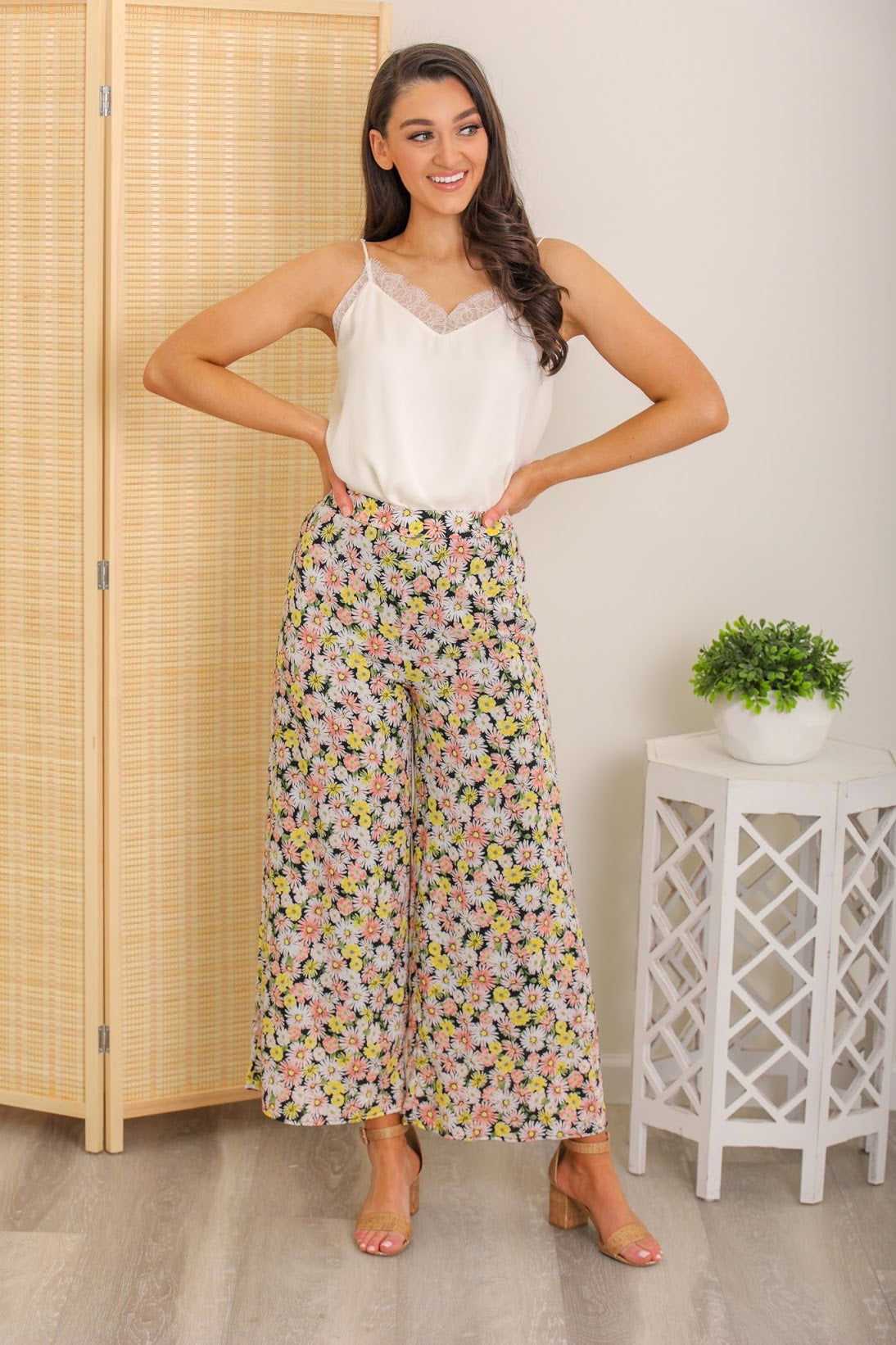 Wildflower Floral High Waisted Pants