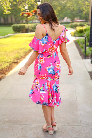 Tropical Getaway Ruffle Dress