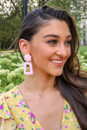 Pink Macaroon Earrings - Earrings - Wight Elephant Boutique
