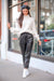 String Them Along Faux Leather Paperbag Waist Pants - Black - Pants - Wight Elephant Boutique