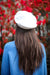 Faux Leather Beret - White - Hats - Wight Elephant Boutique