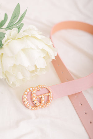 Gee We Love This Belt - Blush and Pearls