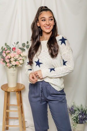 Seeing Stars Twist Back Sweater