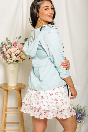 Blustery Day Chambray Hoodie
