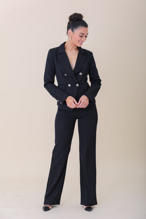 Guinevere Fashion Blazer and Pant Set - Two-Piece Sets - Wight Elephant Boutique