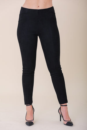 Stick With Me Suede Leggings - Black - Pants - Wight Elephant Boutique