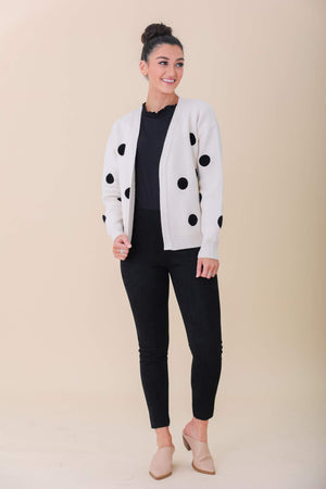 Lots of Spots Polka Dot Cropped Cardigan - Tops - Wight Elephant Boutique