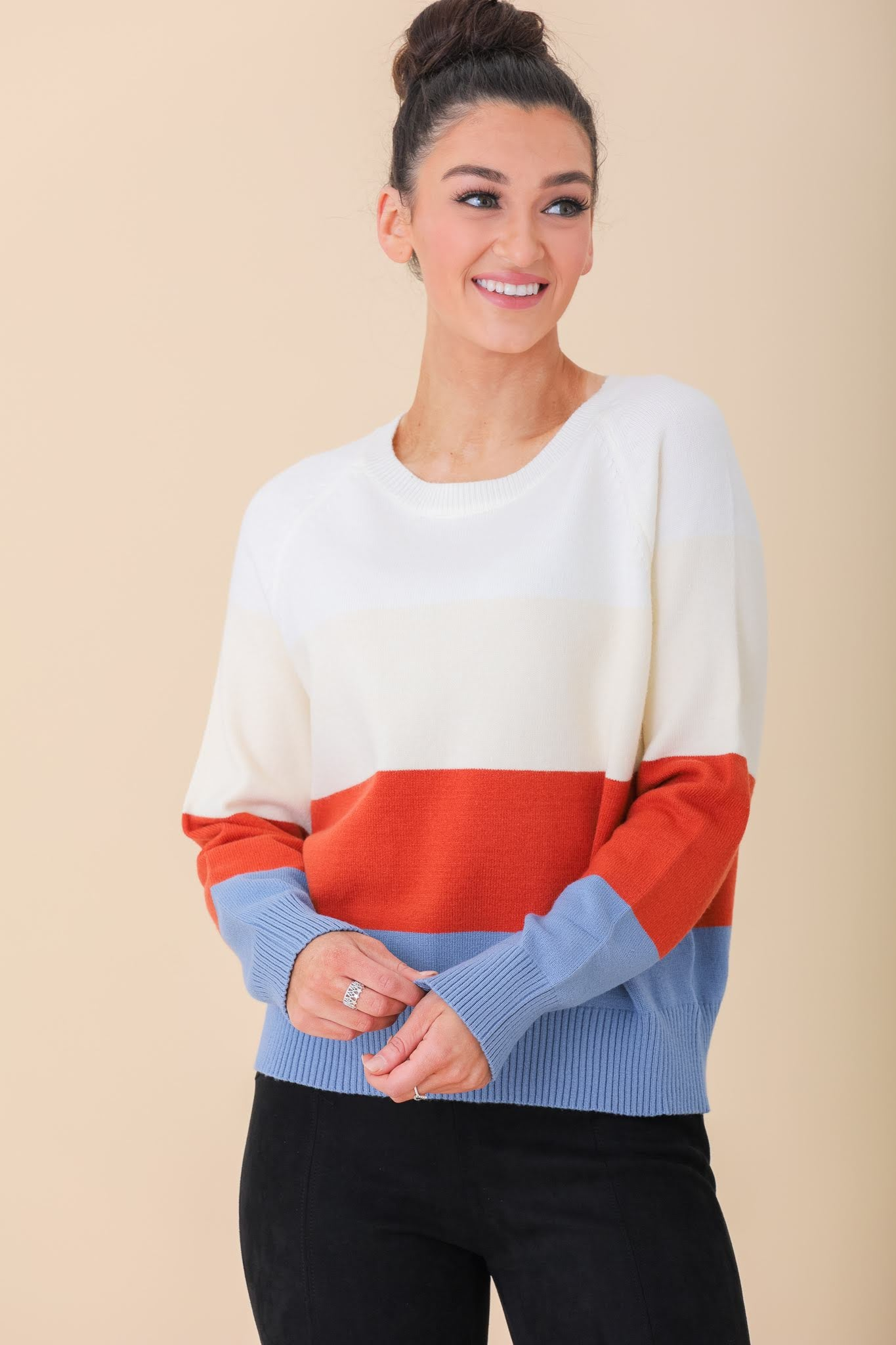 Ready, Set, Go Colorblock Sweater - Tops - Wight Elephant Boutique