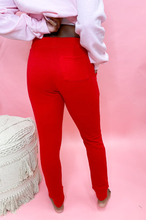 Pucker Up Joggers - Red