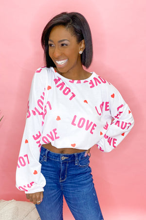Living for Love - Cropped Pullover