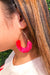 Date Night Tassel Earrings - Pink