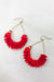 Date Night Tassel Earrings - Red