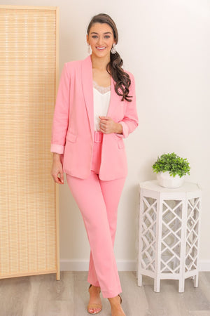 Cotton Candy Pink Blazer