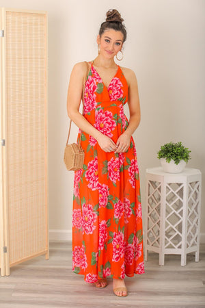 Fields of Poppies Floral Maxi Dress