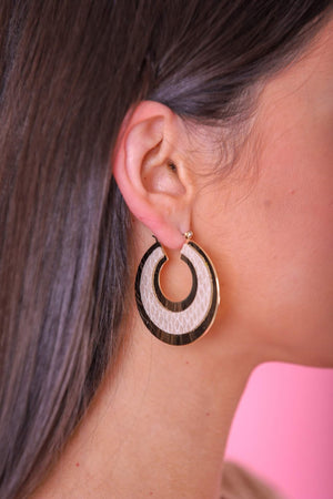 Dalara Snakeskin Print Hoop - Earrings - Wight Elephant Boutique