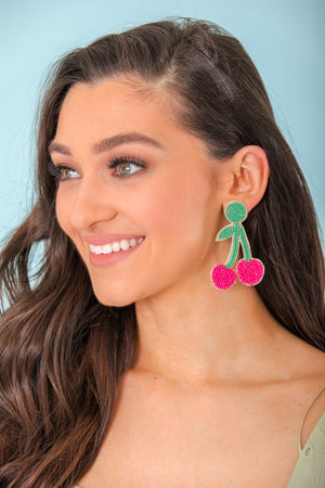 Peele Cherry Stem Earrings